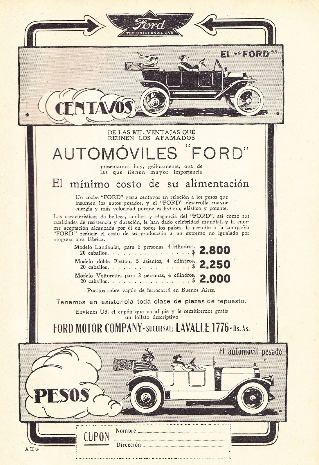 publicidad Ford 1915