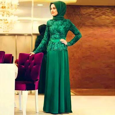 trend-dress-muslim-hijau