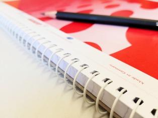 quaderno a righe per grammatica italiana