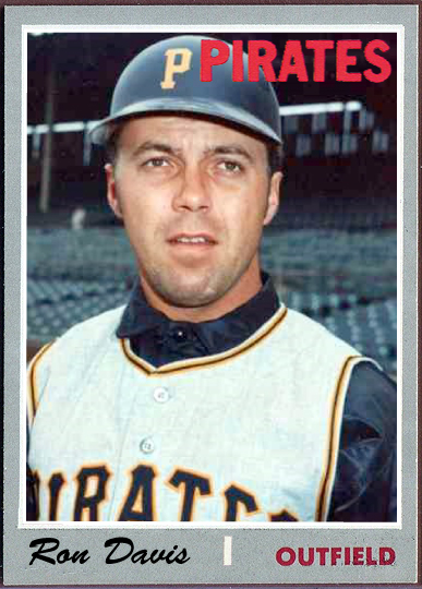 When Topps Had Baseballs Missing In Action 1970 Ron Davis