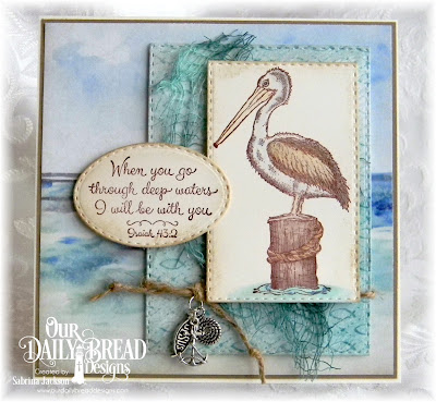 Our Daily Bread Designs Stamp Set: By The Sea, Our Daily Bread Designs Custom Dies: Double Stitched Rectangles, Stitched Ovals, Our Daily Bread Designs Paper Collection