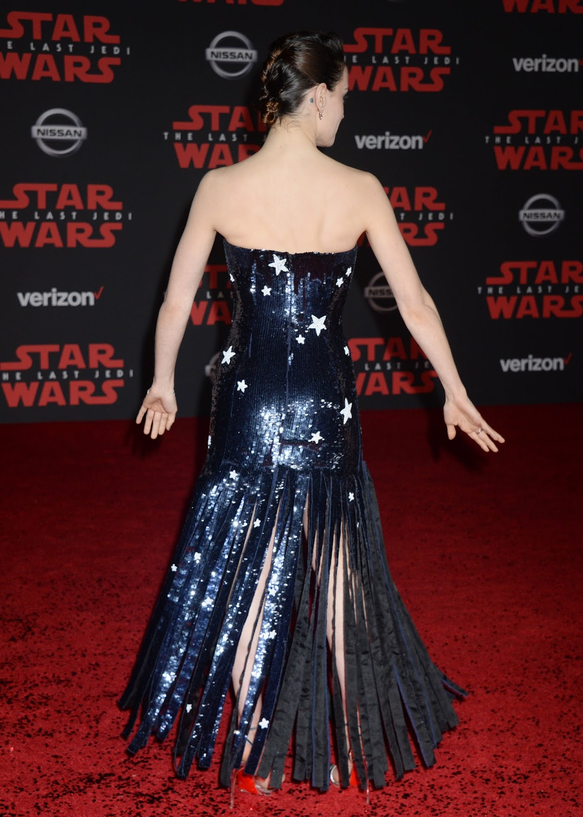 Daisy Ridley On the Red Carpet of the 'Star Wars The Last Jedi' premiere in Los Angeles