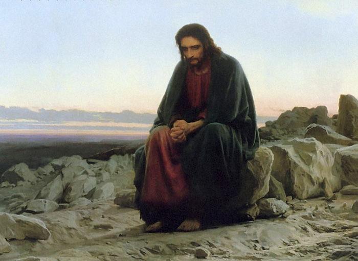 Христос в пустыне. Иван Николаевич Крамской