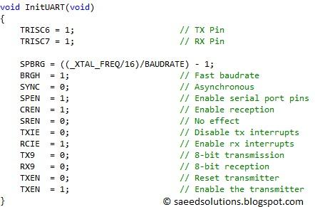 PIC16F877 UART code + Proteus simulation | Saeed's Blog