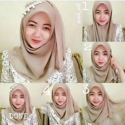 Tutorial Hijab Kerudung Segitiga Tanpa Ciput