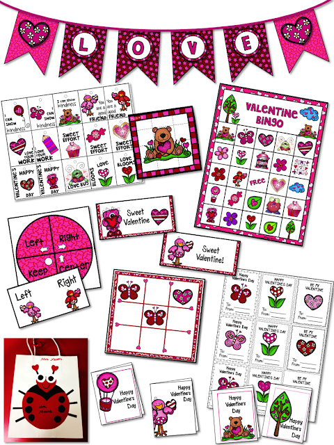 Imagine a stress-free Valentine Day party!  This pack has party planning tips, Valentine Day Decorations, Valentine Crafts, and Valentine Party games to help you save time and plan a fun Valentine's Day party for your kindergarten, 1st, 2nd, 3rd, 4th, 5th grade, and home school students!  It contains all you need (and more) to have a fun-filled classroom party! {kindergarten, 1st, second, third, fourth, fifth graders}
