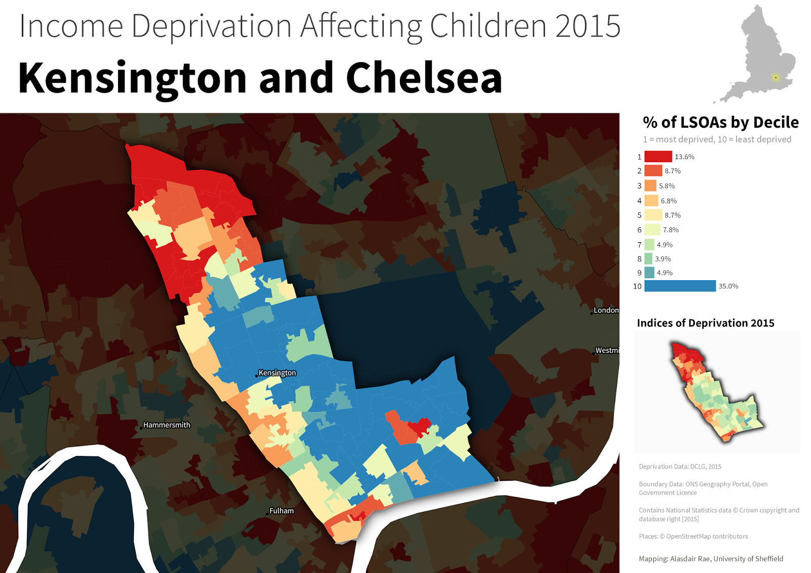 Map Of England 2015.Stats Maps N Pix Children Living In Deprived Households In England