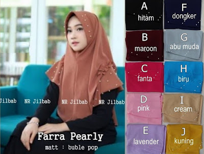 Jilbab Kerudung Hijab Farra Pearly