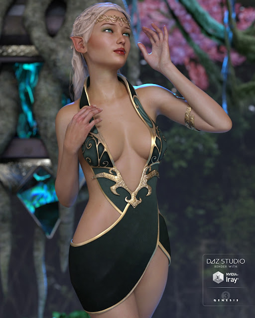 Althea Outfit for Genesis 3 Female