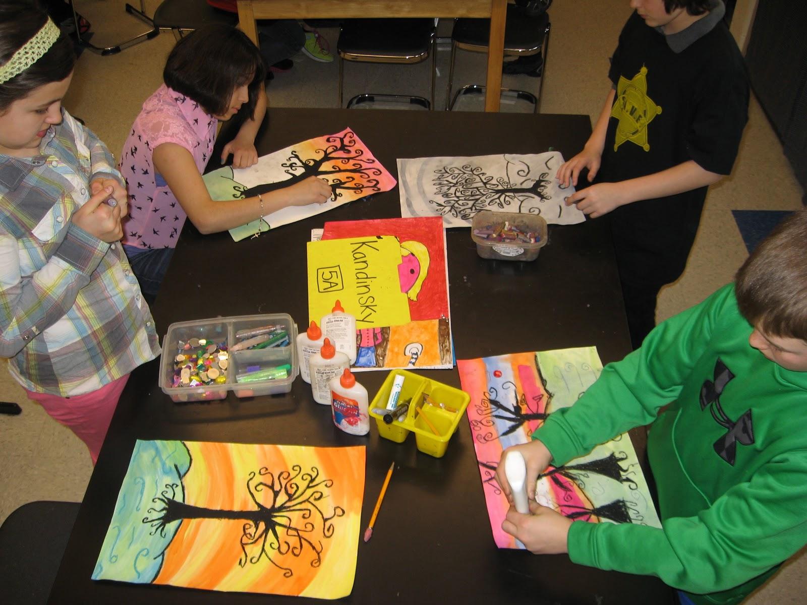 Jamestown Elementary Art Blog 5th Grade Gustav Klimt Tree Landscapes