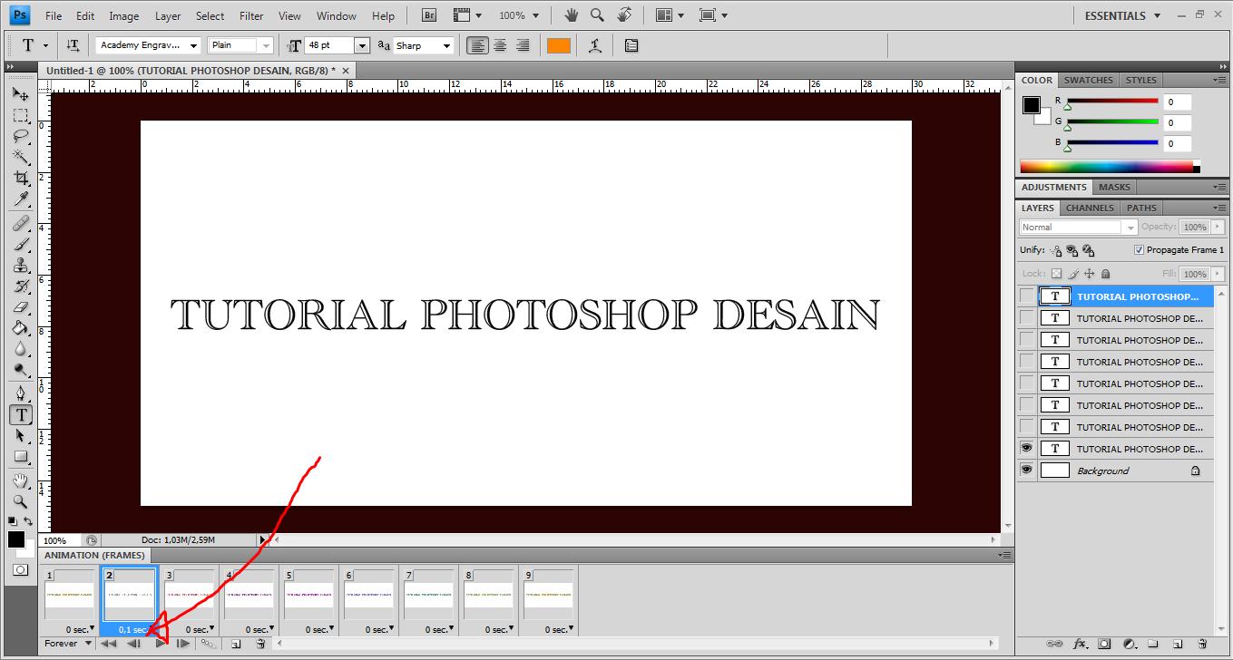 tutorial photoshop cara membuat dp bbm berkedip dengan
