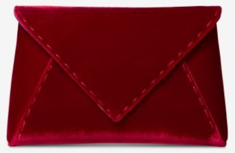 Tyler Ellis Lee Clutch in red satin