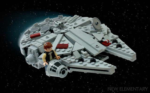 Millennium Falcon LEGO model by Kevin Levell