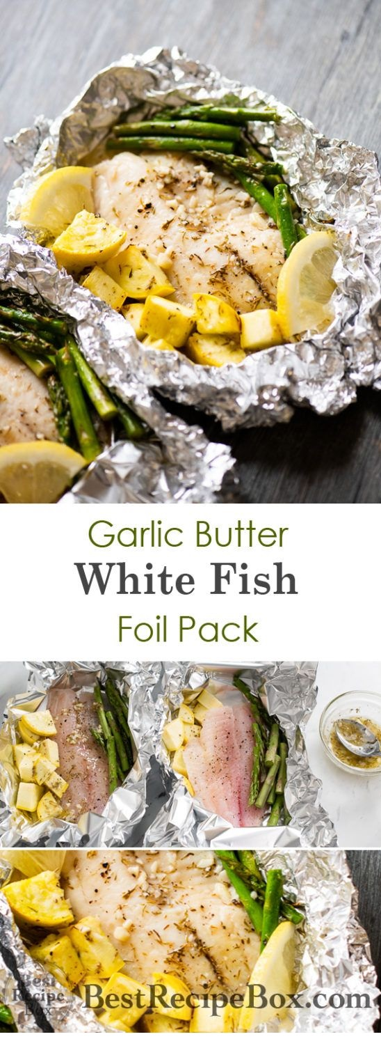 15 Minute Foil Baked Garlic Butter White Fish (Tilapia)