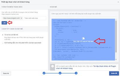 Thiết lập tên miền và sao chép code vào trong website