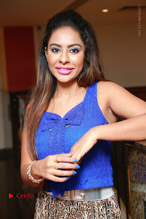 Telugu Actress Srilekha Reddy Latest HD Pos in Sleeveless Blue Top at Muse Art Gallery  0065.JPG