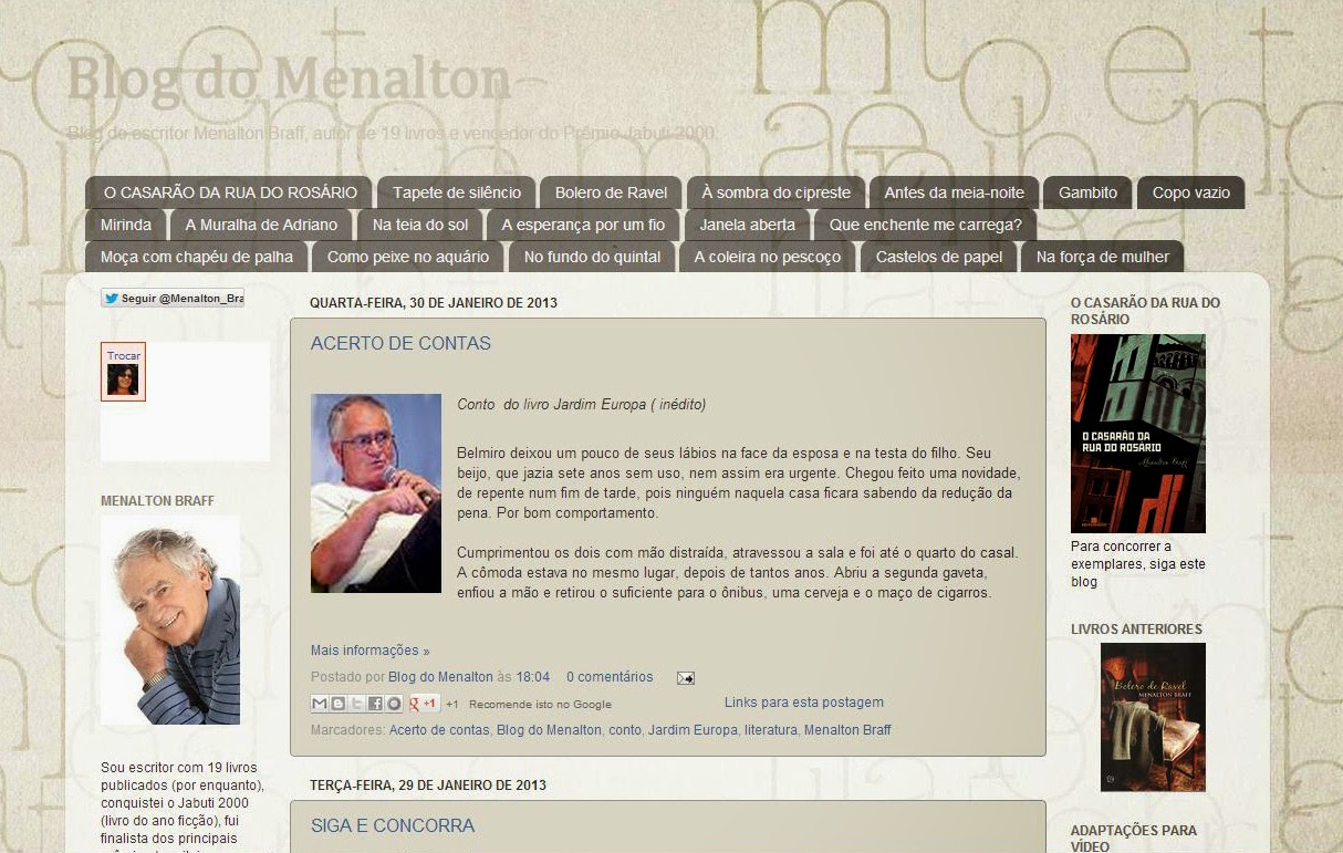 Blog do Menalton - Literatura