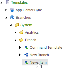 branch template