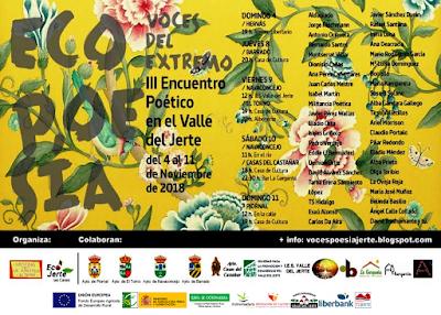 III Encuentro poético Voces del Extremo en el Jerte.