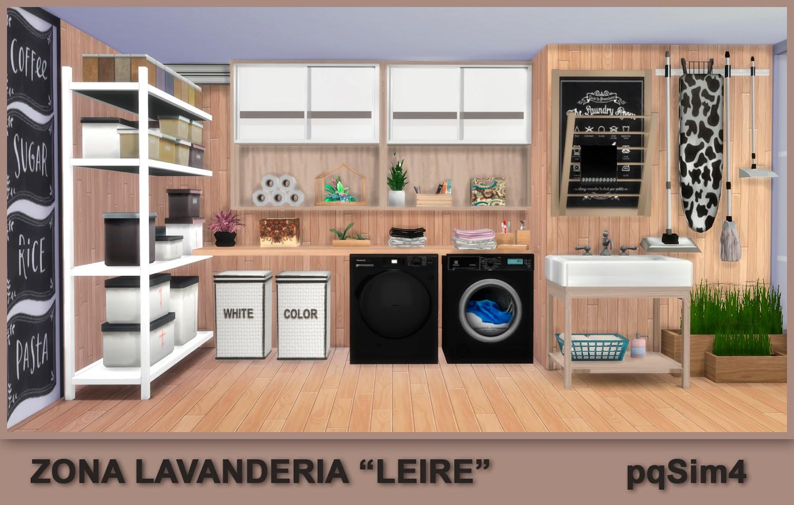Zona lavander a leire sims 4 custom content - Zona lavanderia ...