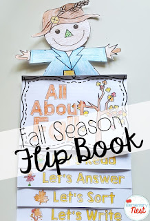 fall reading flip book- September Activities and primary resources plus three FREEBIES- fun ELA, math, and social studies activities for students during the month of September
