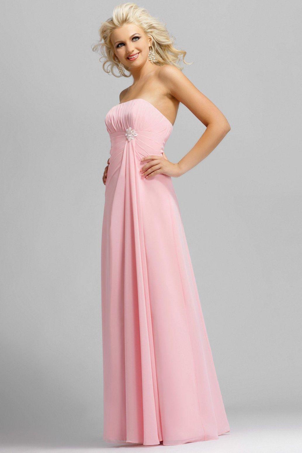 Long Bright Pink Bridesmaid Dress Designs