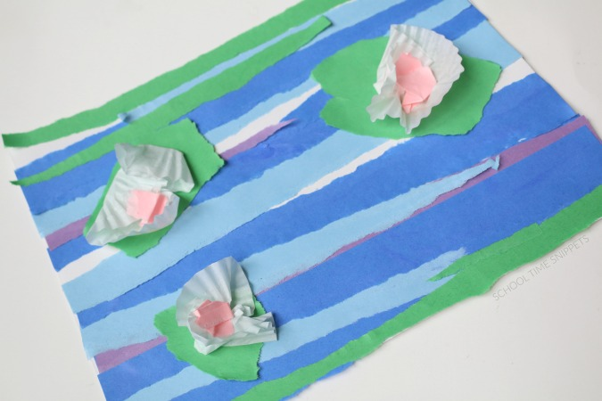 water lily paper craft