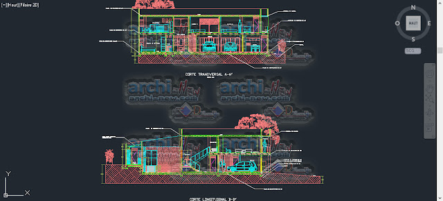 download-autocad-cad-dwg-file-house-Pools-Plants