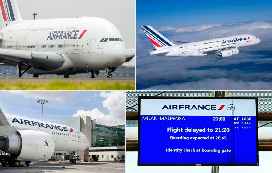Cancellazione alcuni voli Italia Francia per nuovi scioperi Air France dal 23 al 26 giugno