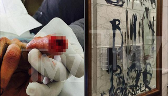 Johnny Depp, se cortó el dedo y escribió estos mensajes violentos, con sangre contra su esposa