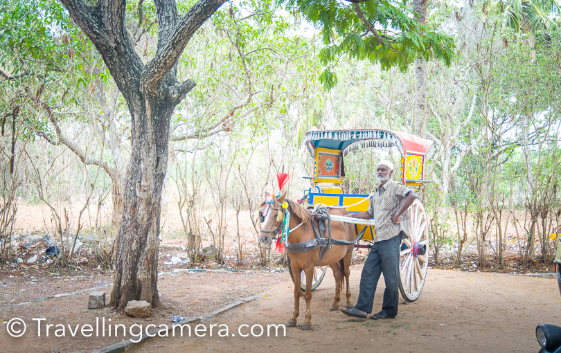 Here is a photograph of Tanga guy waiting for customers outside Tipu's Palace in Sriranagapatana.