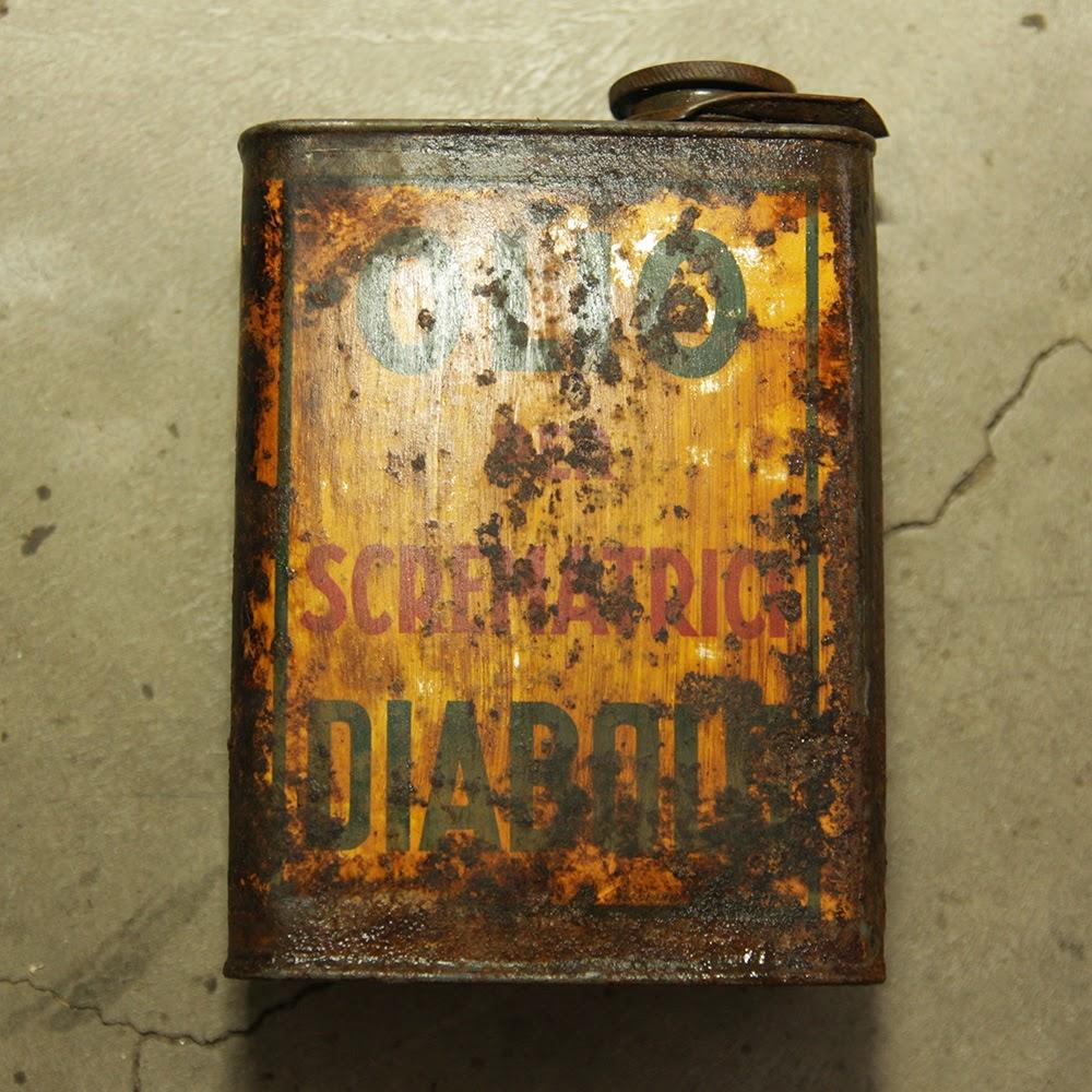 latta olio scrematrici diabolo restauro acido ossalico