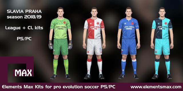 Slavia Praha PES Kits 2018/19