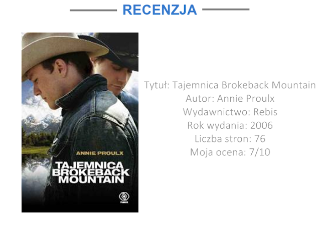 "[RECENZJA] ""TAJEMNICA BROKEBACK MOUNTAIN"" - ANNIE PROULX"