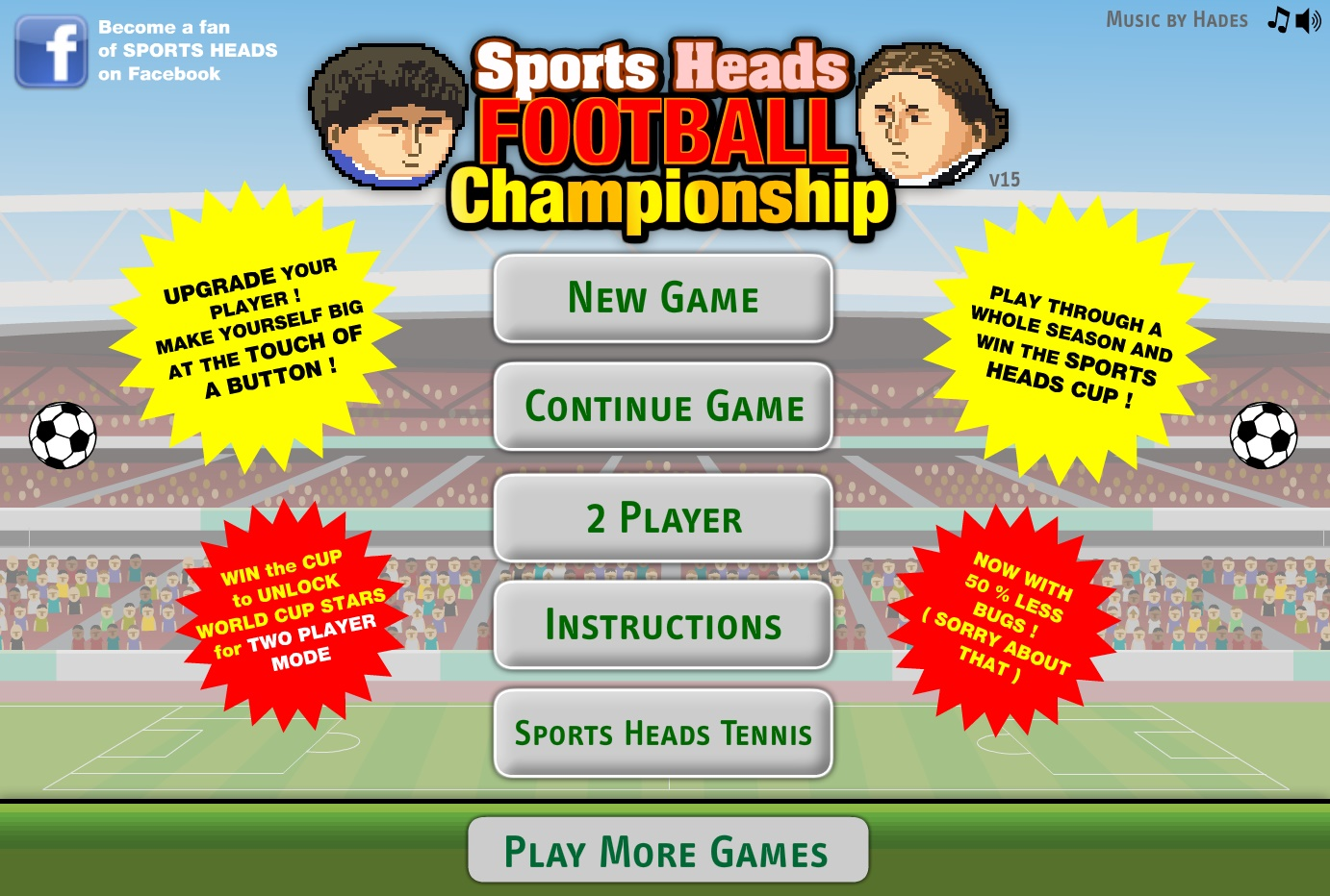 Sports Head Soccer Play Free Online Facebook Game