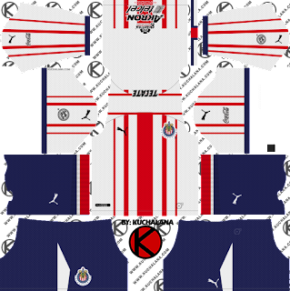and the package includes complete with home kits Baru!!! Chivas De Guadalajara Kits 2018/2019 - Dream League Soccer