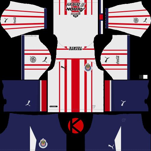 Chivas De Guadalajara Kits 2018/2019 - Dream League Soccer
