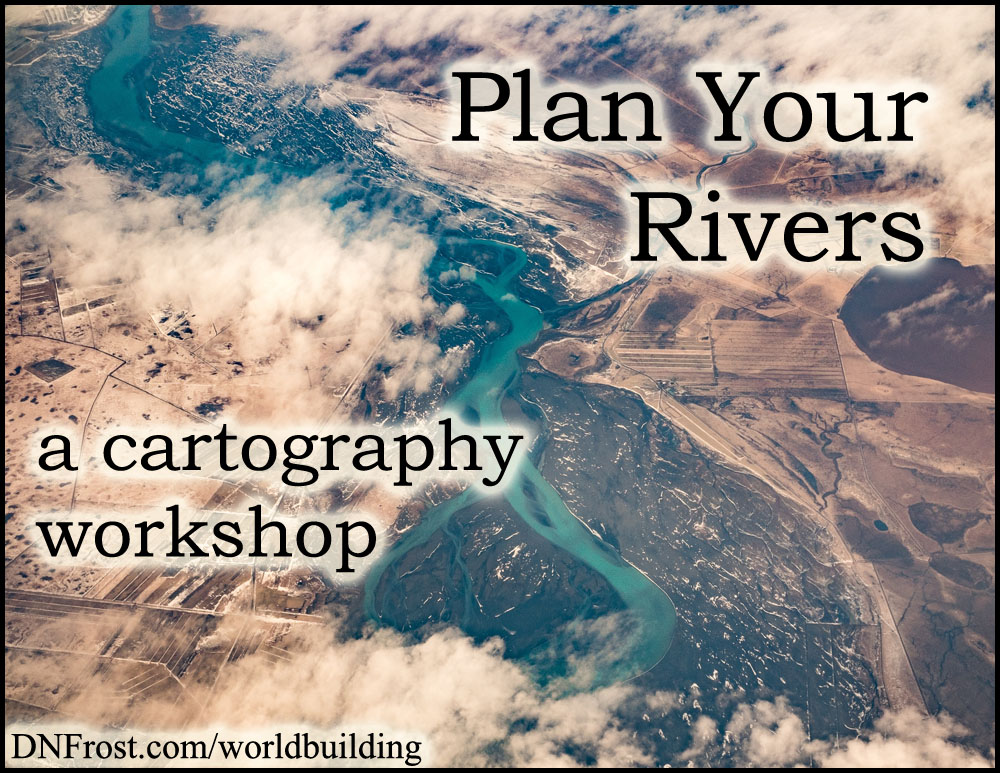 Plan Your Rivers: how water drains from land http://www.dnfrost.com/2016/11/plan-your-rivers-cartography-workshop.html #TotKW A worldbuilding workshop by D.N.Frost @DNFrost13 Part 1 of a series.