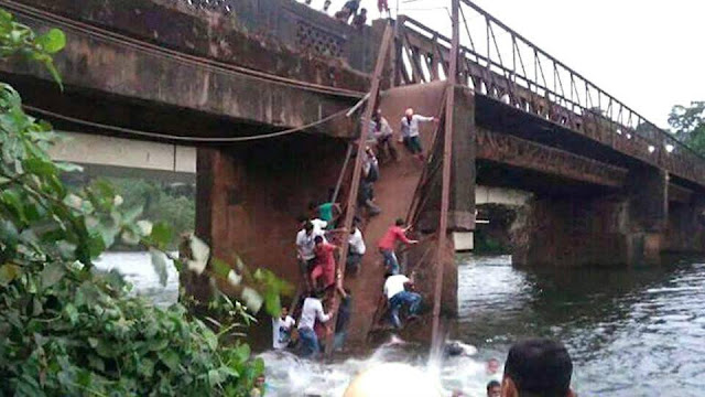 Ten feared dead, dozens missing in Goa bridge collapse