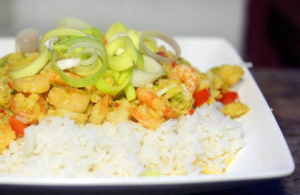 recept kabeljauw prei curry