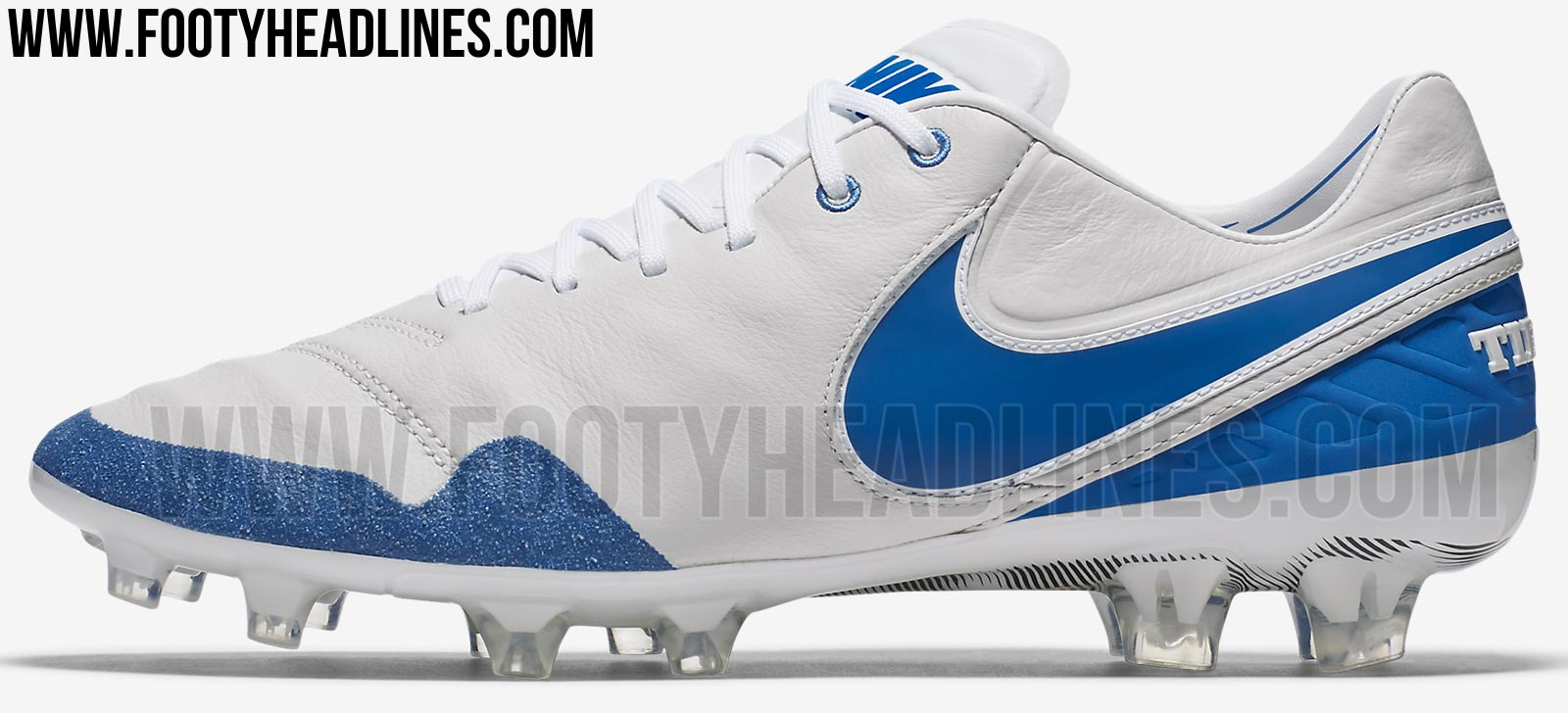 Also inspired by the Nike Air Max 90, the Revolution Pack Nike Tiempo  Legend 2017 soccer boot is mainly white with remarkable blue applications.