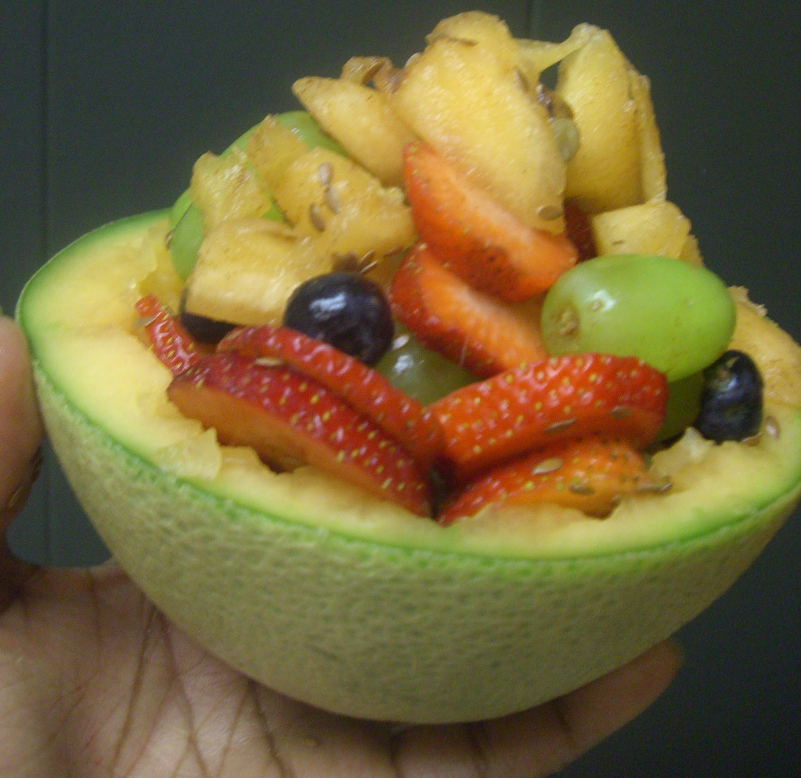 AfroVeganChick: Honeydew Fruit Salad Bowl