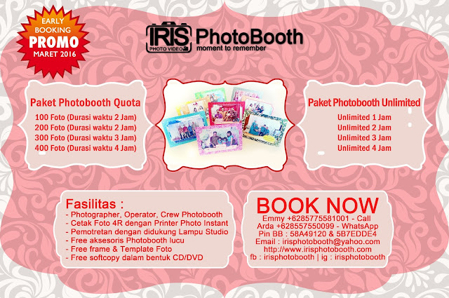 paket promo early booking photobooth