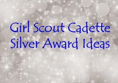 Girl Scout SIlver Award Ideas