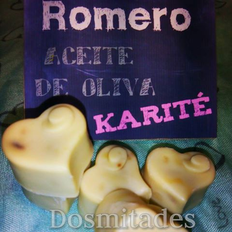 Jabón-artesanal-mini-jaboncitos-aceite-oliva- romero-Dosmitades