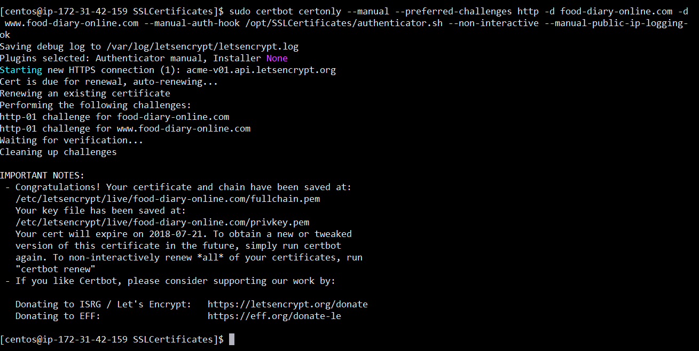 Java blog: Enabling SSL in Wildfly using a free certificate