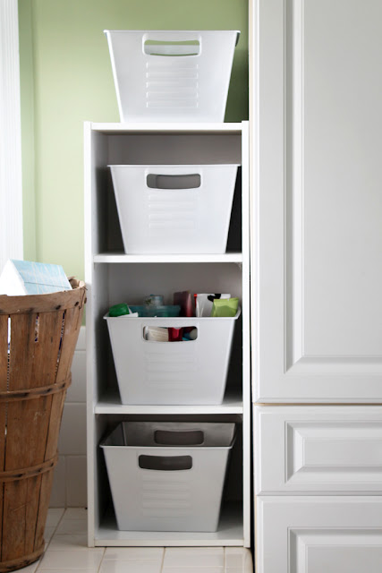 how to makeover dollar store bins for pretty organization