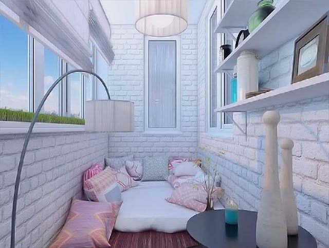 Balcony is a suitable idea for Girls bedroom