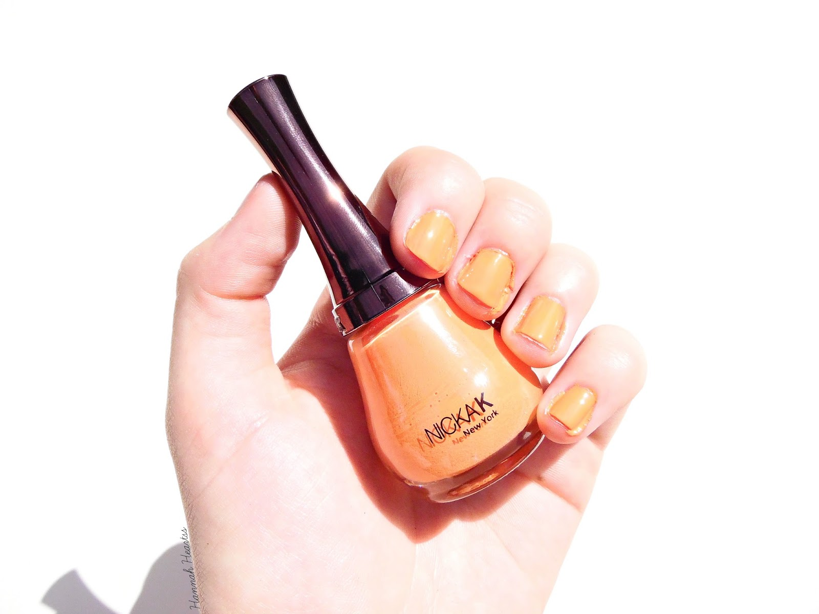 Nicka K Bright Orange Swatch