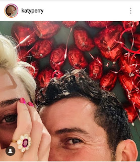 Katy Perry Shared On Her Instagram Account Her Engagement Ring